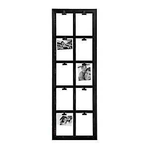 Black Window Pane 10-Opening Clip Collage Frame