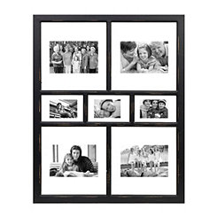 Black Floating Windowpane Collage Frame