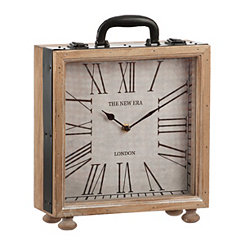 Suitcase Tabletop Clock