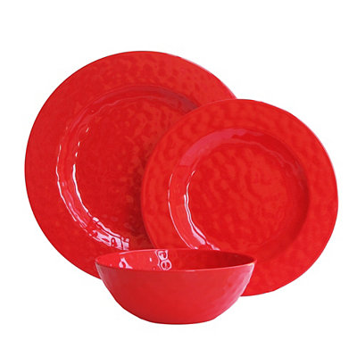 Red 12-pc. Melamine Dinnerware Set