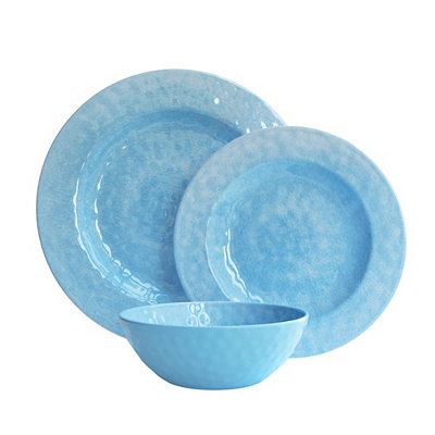 Blue 12-pc. Melamine Dinnerware Set