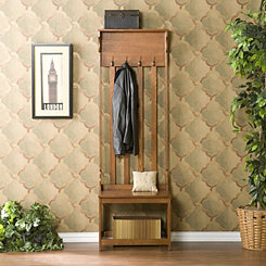 Ramsy Entryway Wooden Bench with Hooks