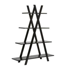 Xavier Black Wooden Shelf