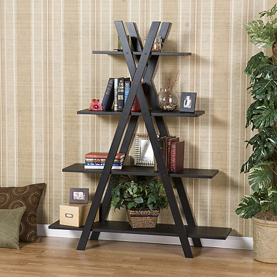 Xavier Black Wooden Shelf