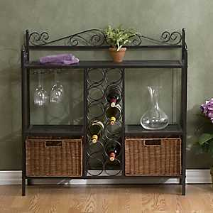 Oliver Wine Storage Bakers Rack