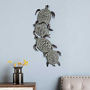 Sea Turtle Metal Plaque
