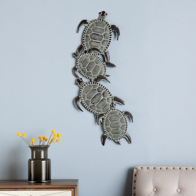 Sea Turtle Metal Plaque