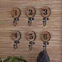 Dani Numbered Wall Hooks