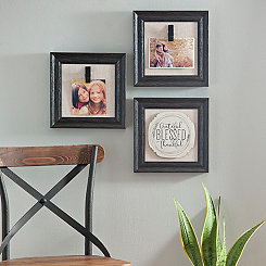Black Sentimental Collage Clip Frames, Set of 3