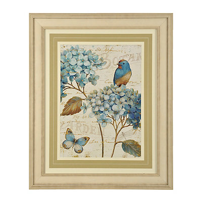 Blue Garden II Framed Art Print