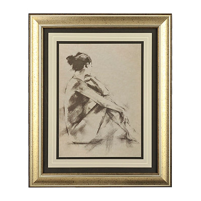 Charcoal Figure I Framed Art Print