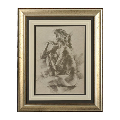 Charcoal Figure II Framed Art Print