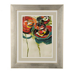 Abstract Modern Floral I Framed Art Print
