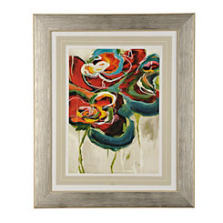 Abstract Modern Floral II Framed Art Print