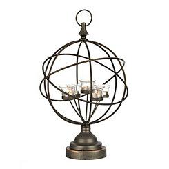 Metal Sphere Votive Candle Holder