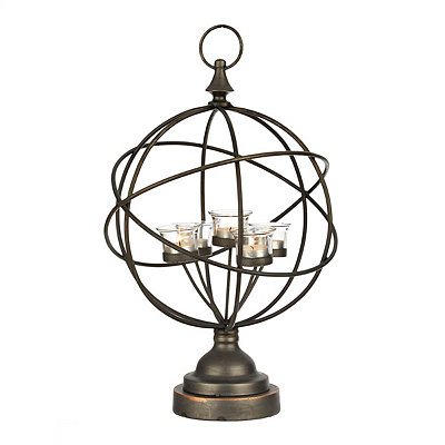 Metal Sphere Votive Candle Holder