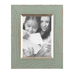 Silver Trim Turquoise Picture Frame, 5x7