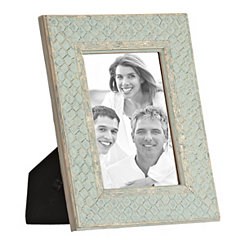 Aqua Embossed Gold Picture Frame, 5x7