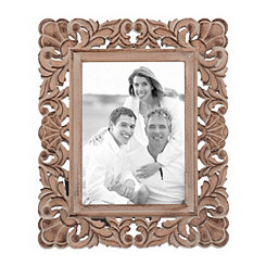 Wood Scrolled Cutout Picture Frame, 5x7