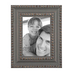 Dotted Gold Charcoal Picture Frame, 5x7