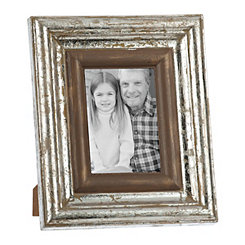 Natural Charm Silver Picture Frame, 5x7