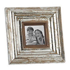 Natural Charm Silver Picture Frame, 4x4