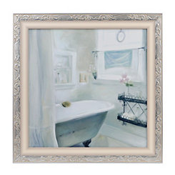 Seaglass Bath I Framed Art Print