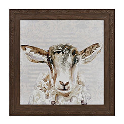 Damask Sheep Framed Art Print