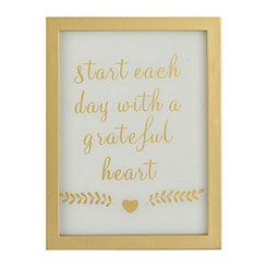 Grateful Heart Word Block