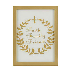 Faith Family Friends Word Block