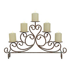 Rustic Scroll Candle Runner
