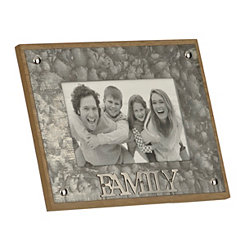 Galvanized Family Picture Frame, 4x6