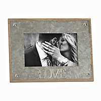 Galvanized Love Picture Frame, 4x6