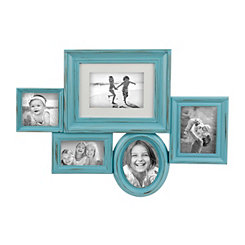 Distressed Turquoise Huddled Collage Frame
