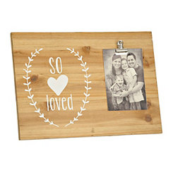 So Loved Wood Clip Frame