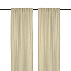 Natural Layton Curtain Panel Set, 96 in.