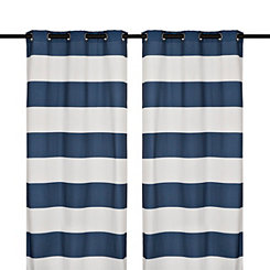 Surfside Navy Curtain Panel Set, 96 in.