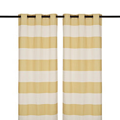 Surfside Yellow Curtain Panel Set, 96 in.