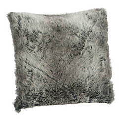 Gray Ombre Faux Fur Pillow