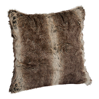 Brown Ombre Faux Fur Pillow