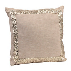 Natural Sequins Pillow