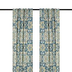 Blue Caspian Curtain Panel Set, 84 in.