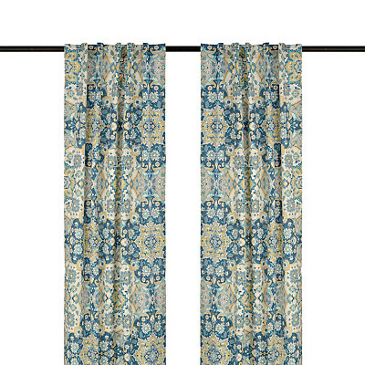 Blue Caspian Curtain Panel Set, 84 in.