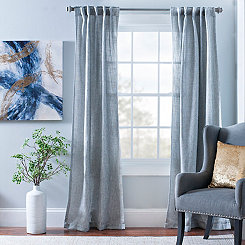 Gray Layton Curtain Panel Set, 84 in.