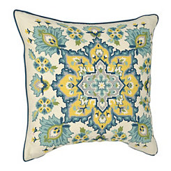 Blue and Yellow Caspian Pillow