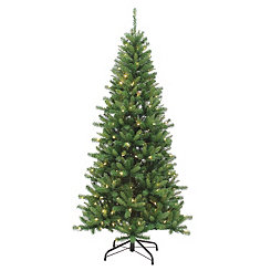 7 ft. Dual-Lit Ozark Pine Christmas Tree