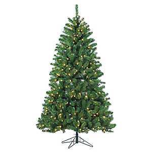7 ft. Warm Lit Montana Pine Christmas Tree