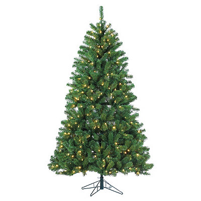 7 ft. Warm Lit Montana Pine Christmas Tree