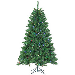 7 ft. Multi-Lit Montana Pine Christmas Tree