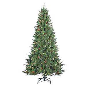 7.5 ft. Pre-Lit Black Hills Spruce Christmas Tree